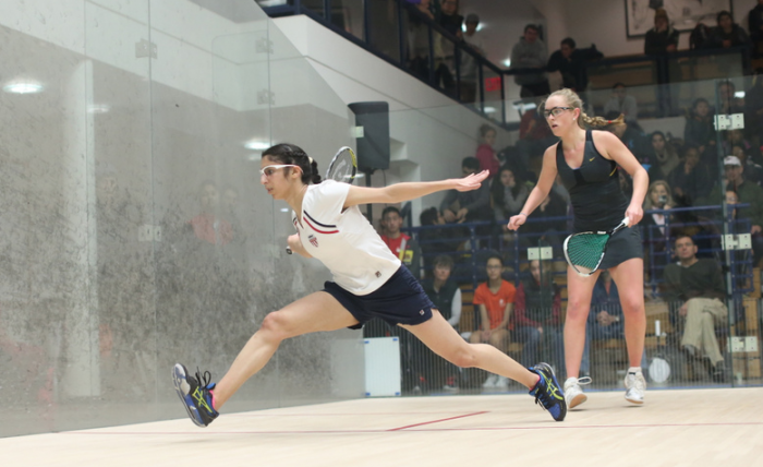 Bellevue's Reeham Sedky - best college women's squash player, eyes pros