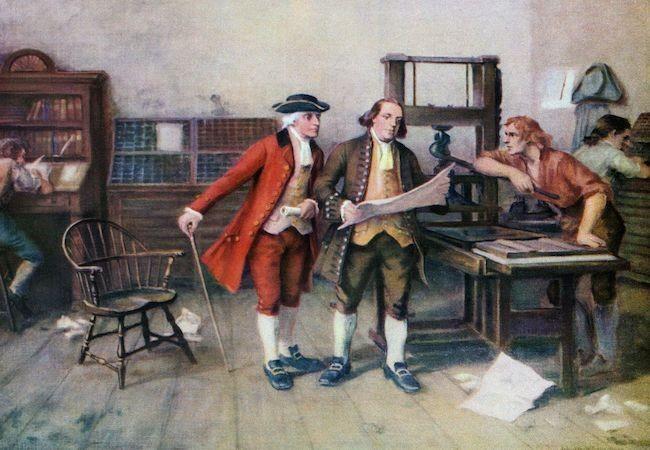 Ben-Franklin-at-Printing-Press